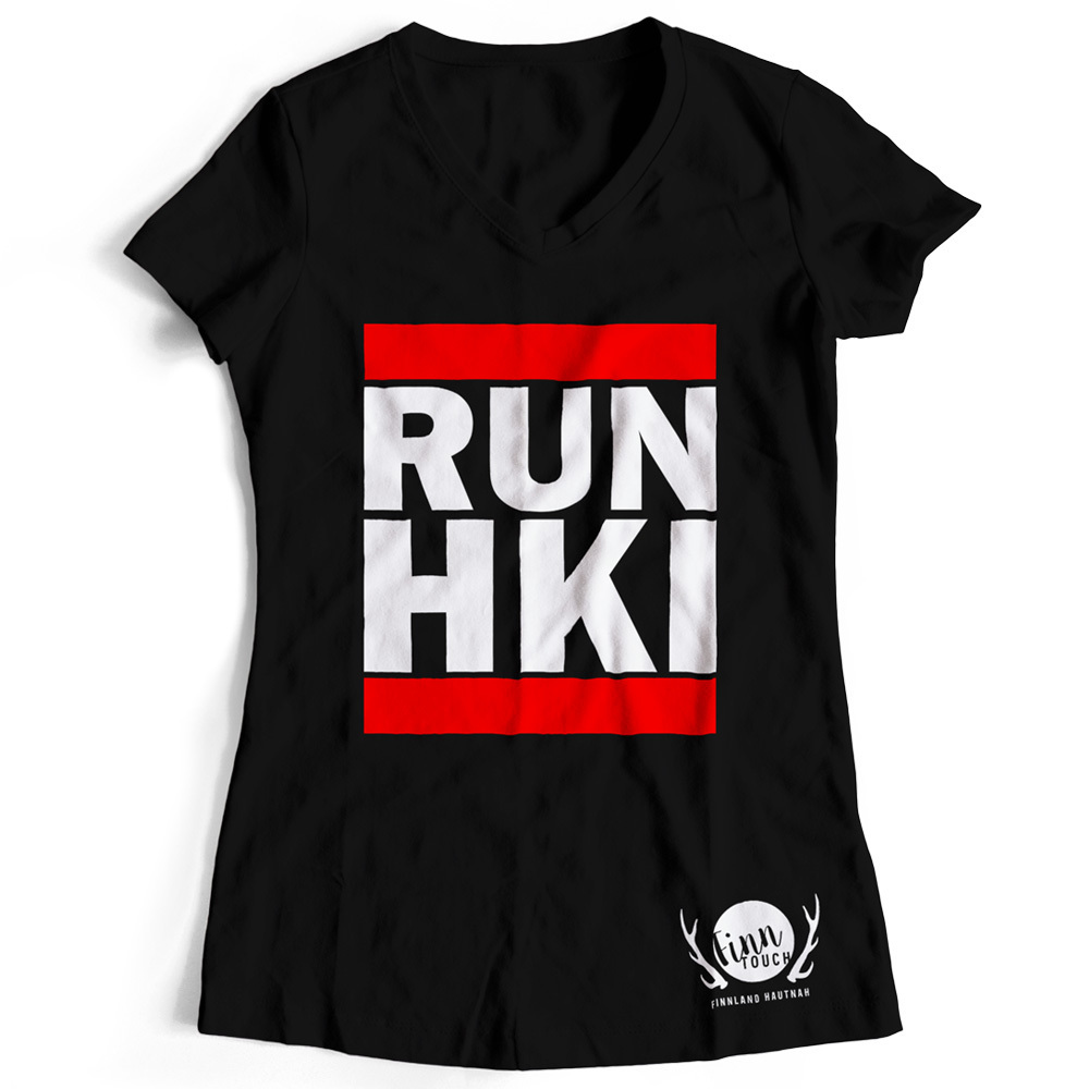 "Girlieshirt ""RUN HKI"" M1-FT 00134"