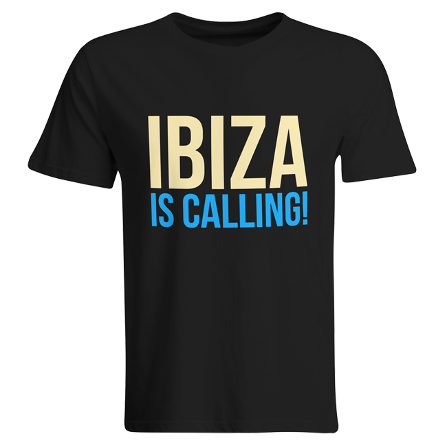 Ibiza is calling! (#trancefamily T-Shirt Men) M1-TFC  00058