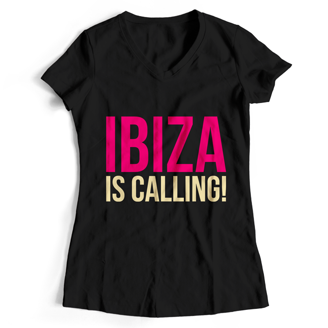Ibiza is calling! (#trancefamily T-Shirt Women) M1-TFC  00070