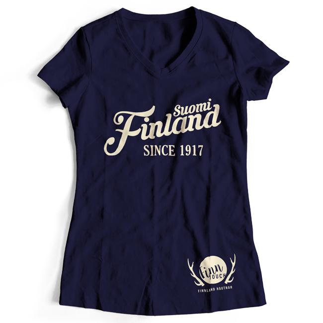 "Girlieshirt ""Suomi Finland - since 1917"" M1-FT 00159"