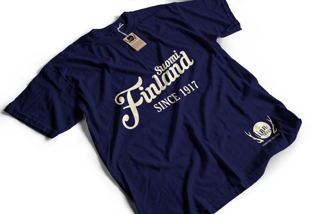 """Suomi Finland - since 1917""  T-Shirt (Men) M1-FT 00160"