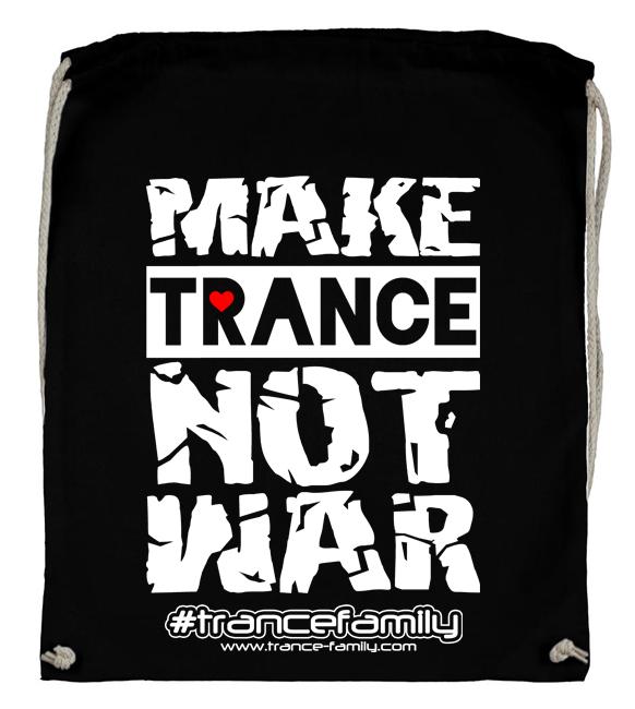 Make Trance not War (#trancefamily Backpack)