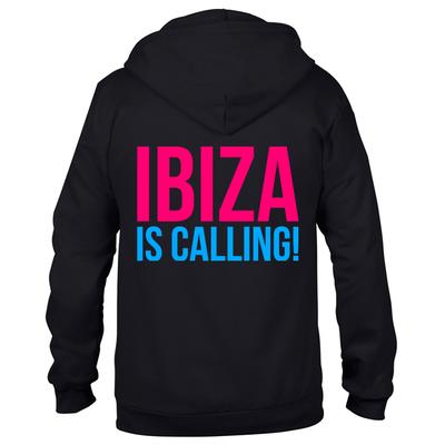 Ibiza is calling! (#trancefamily Unisex Sweatjacket)
