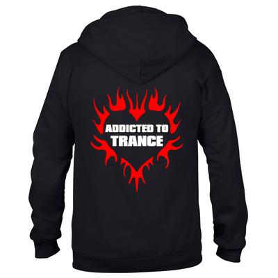 Addicted to Trance (#trancefamily Unisex Sweatjacket)