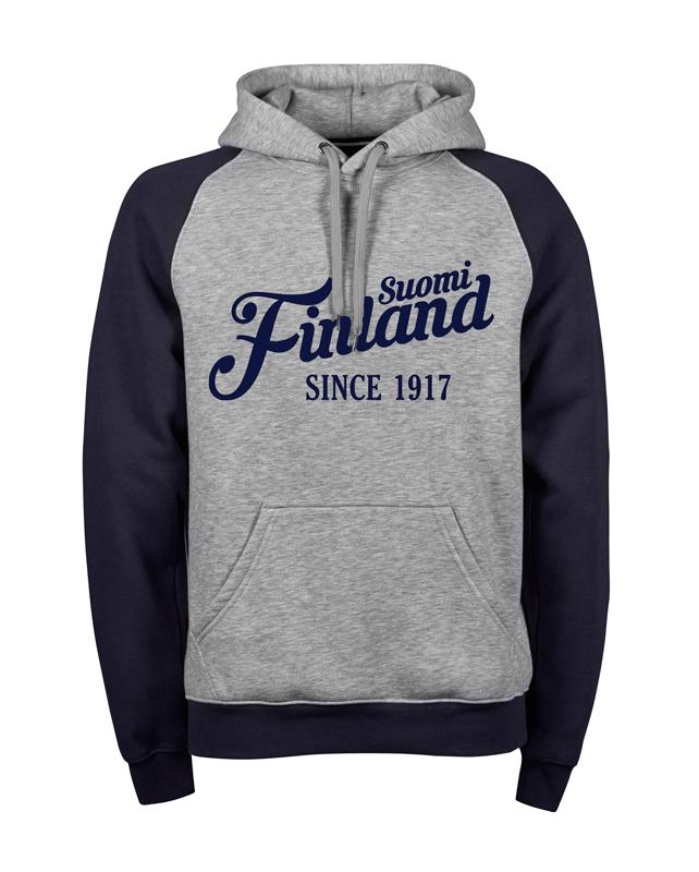 """Suomi Finland - since 1917"" Premium Hoodie M1-FT 00191"