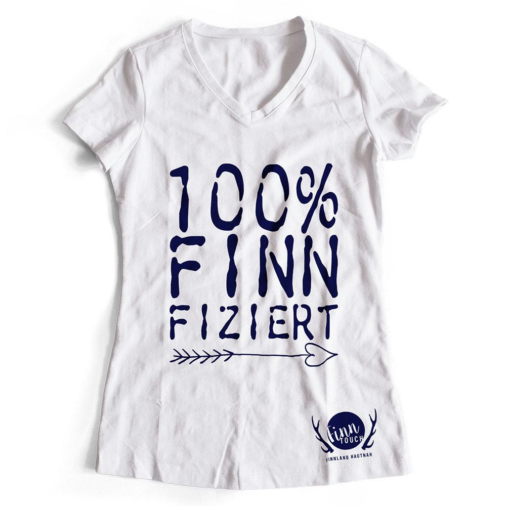 100% finnfiziert Finnland T-Shirt (Damen) M1-FT 00200