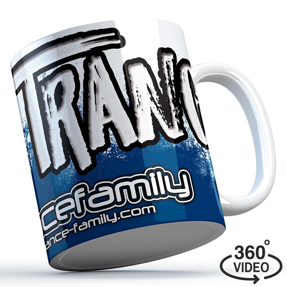 """""""I love Trance"""" Trancefamily Keramiktasse/Mug (Blue Edition) M1-TFC  11127"""
