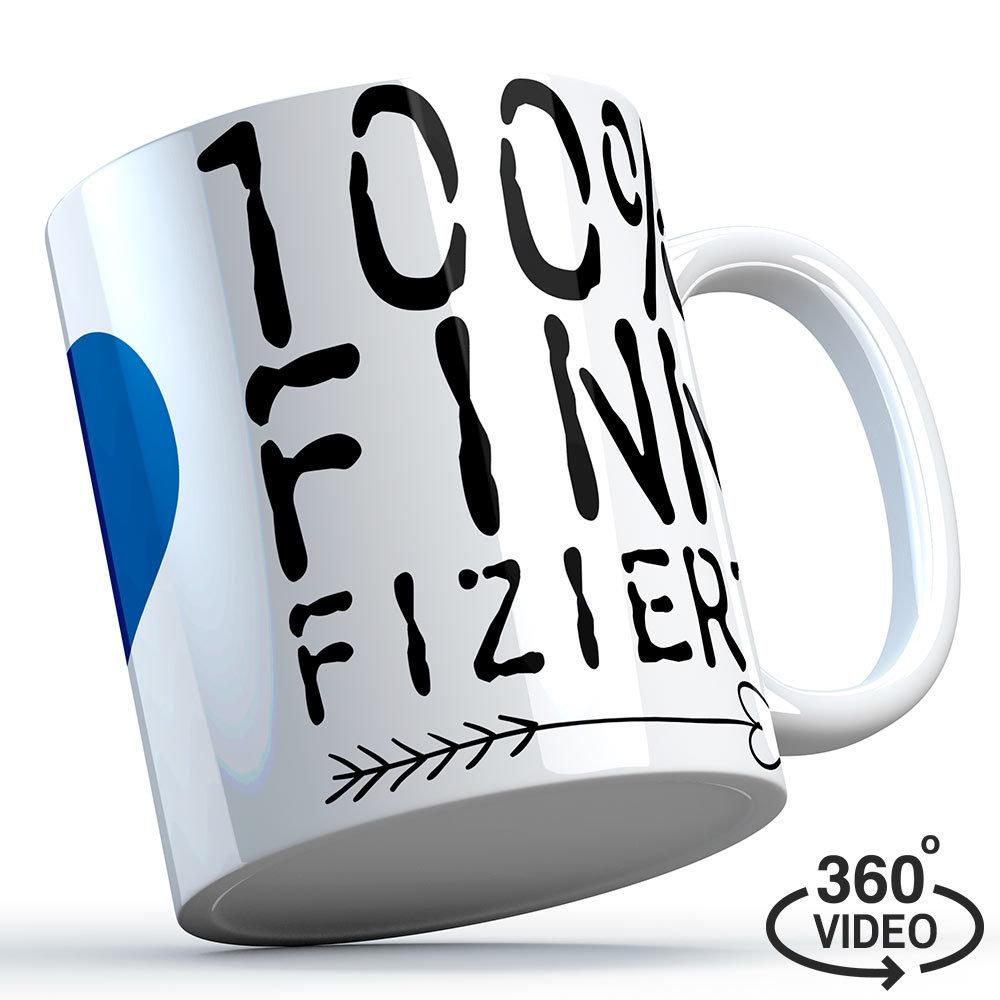 """Finnland Tasse """"100% finnfiziert"""" M1-FT 11132"""