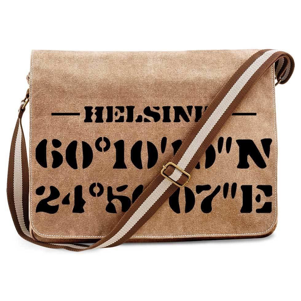 """Helsinki"" Premium Messengertasche im Vintagelook"
