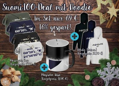 Suomi100-Deal mit Hoodie