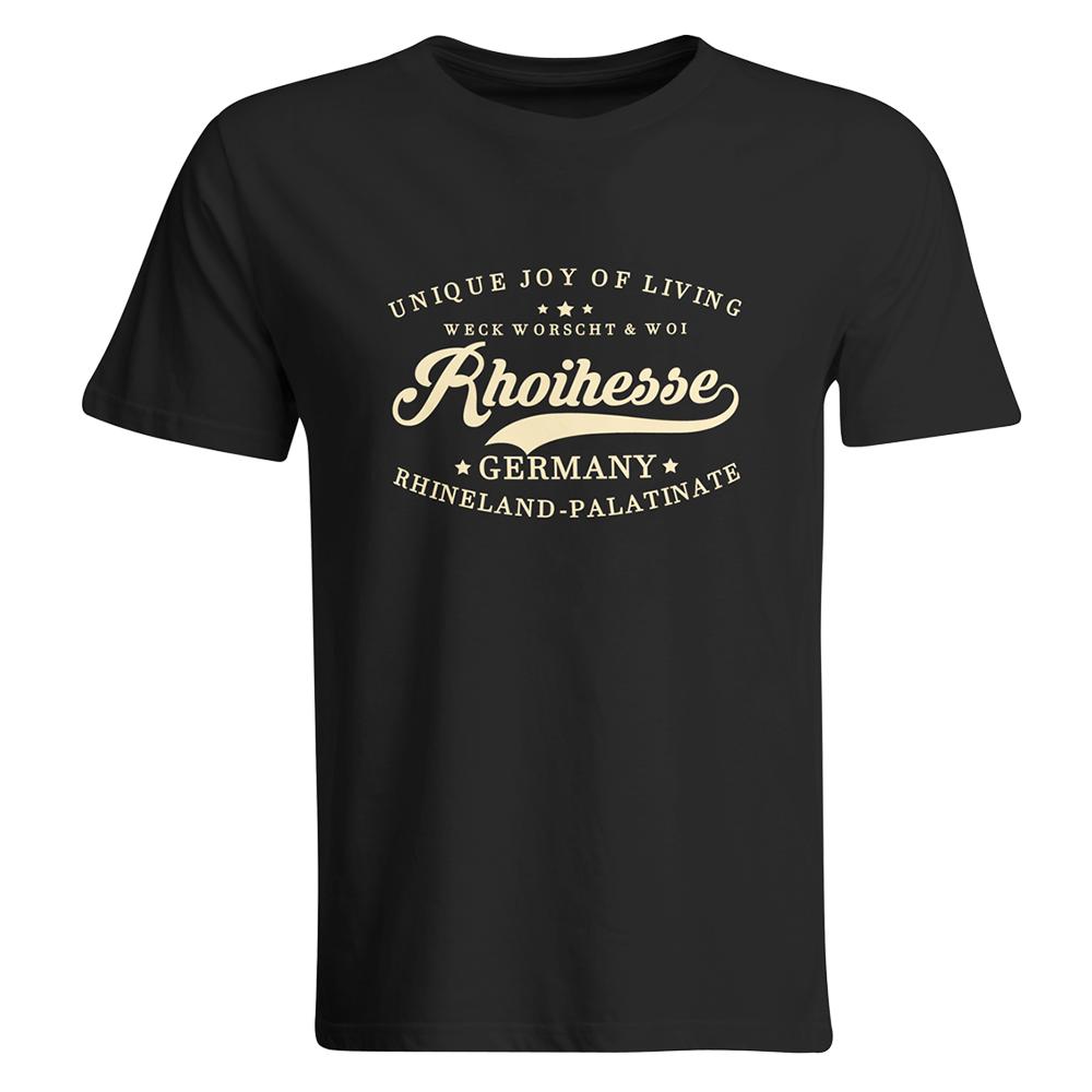 """T-Shirt """"Weck, Worscht & Woi! Rhoihesse"""" (Herren) 11212"""