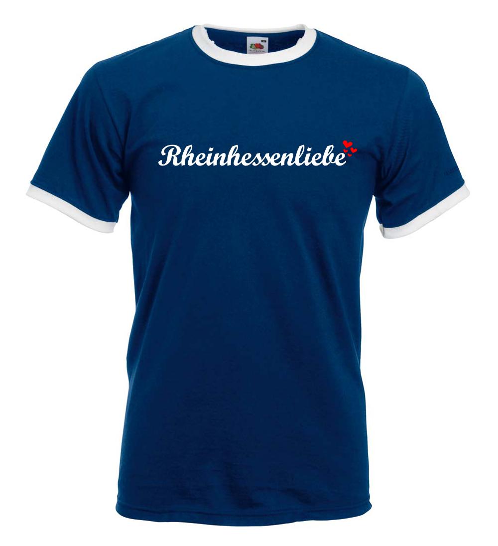 Rheinhessenliebe Ringer T-Shirt (Herren) M1-RHL 11224