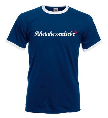 Rheinhessenliebe Ringer T-Shirt (Herren)