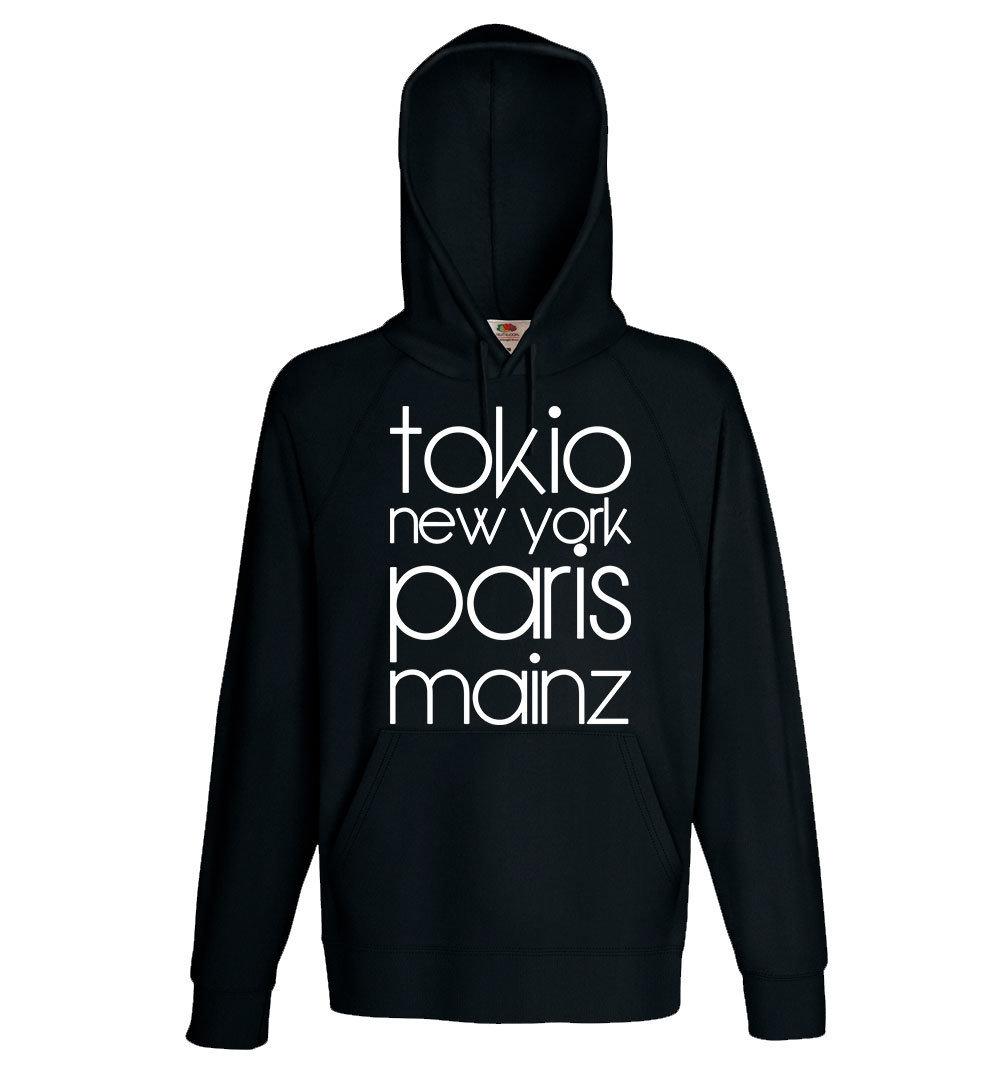 """""""Tokio, New York, Paris, Mainz"""" (Hoody) 11260"""