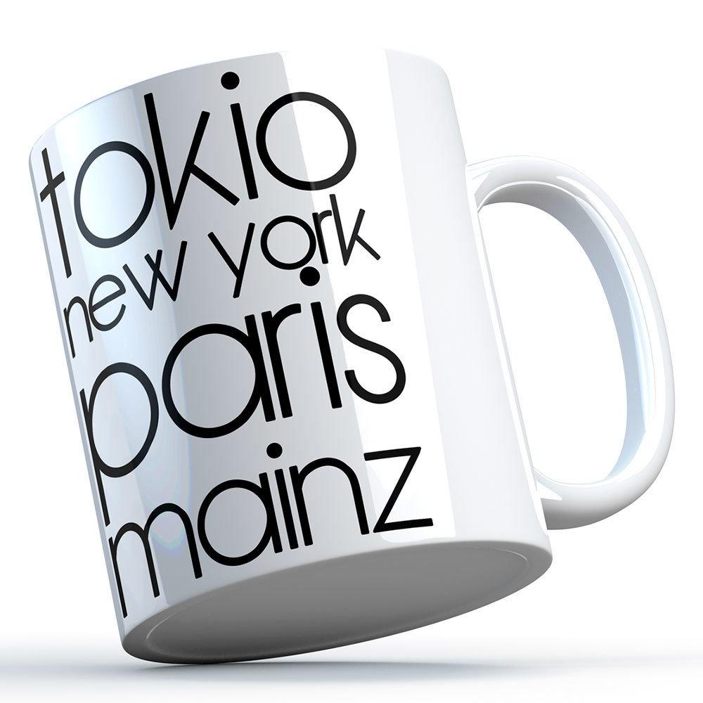"""""""Tokio, New York, Paris, Mainz"""" Keramiktasse 11263"""