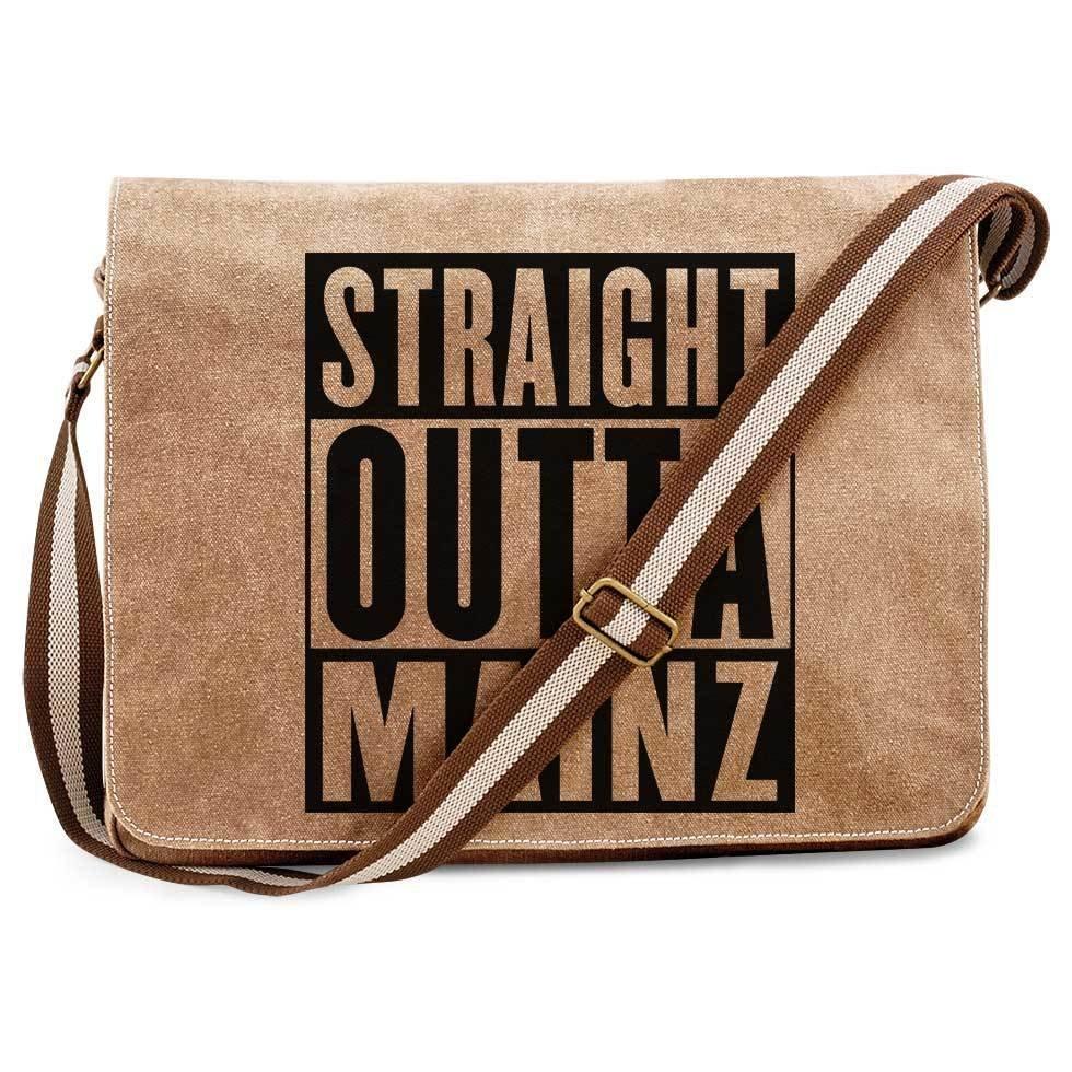 """""""Straight outta Mainz"""" Premium Messengertasche im Vintagelook 11267"""