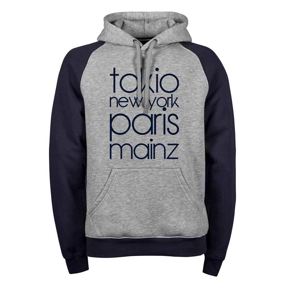 """Tokio, New York, Paris, Mainz"" (Premium Two-Tone Hoody) 11261"