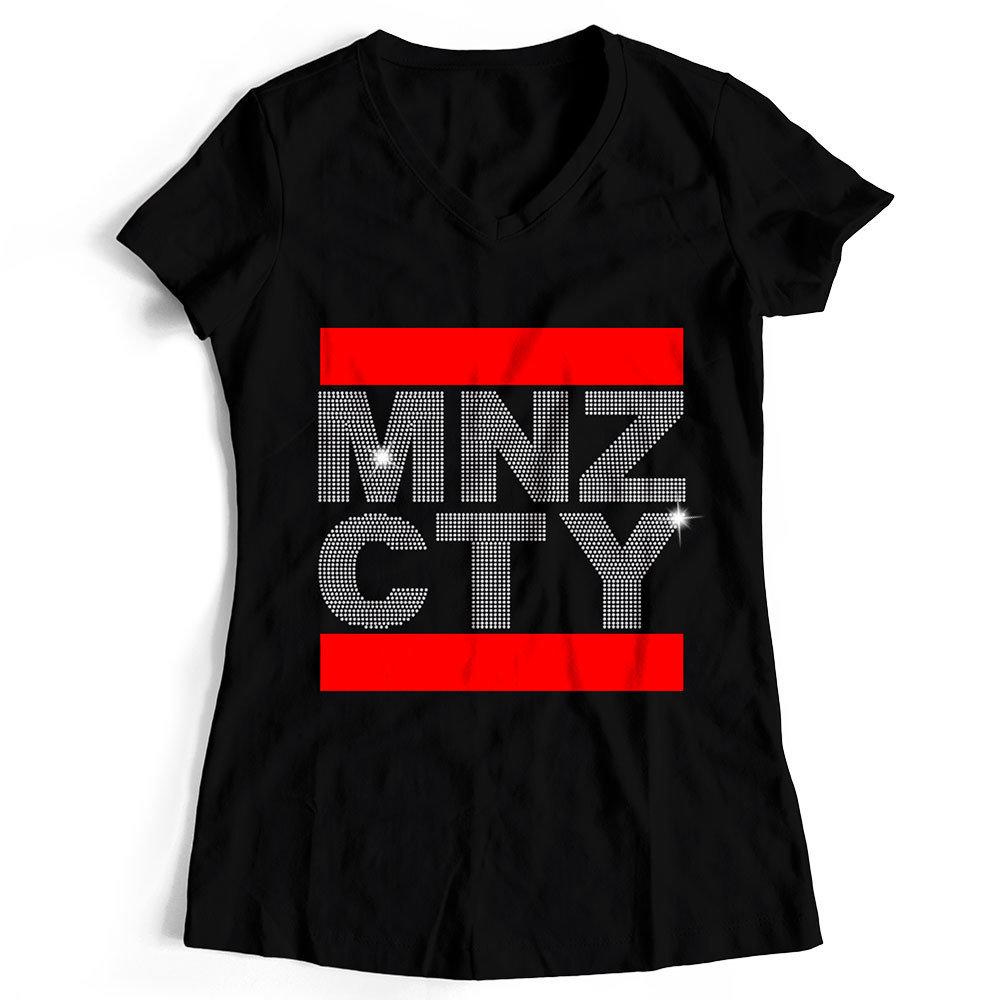 "T-Shirt ""MNZ CTY"" Strass-Edition (Damen) 11280"