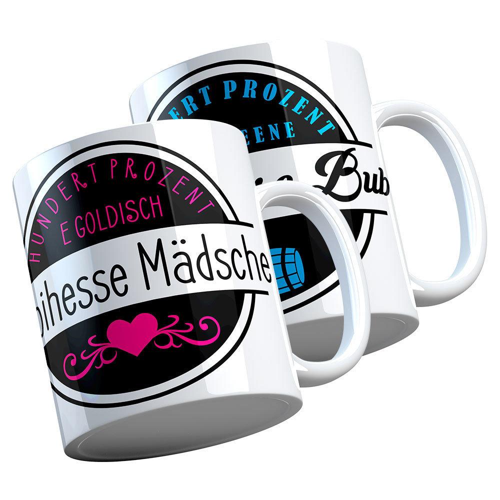 """Rhoihesse Mädsche / Rhoihesse Bub"" Keramiktasse M1-RHL 76992"