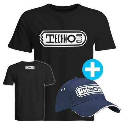 Technoclub T-Shirt + Basecap (Men)