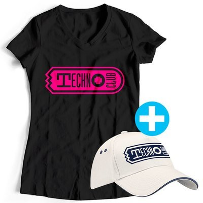 Technoclub T-Shirt + Basecap (Women)