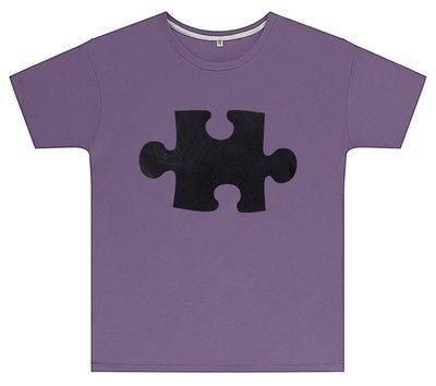 Kreideshirt mit Puzzle-Motiv inkl. 12er-Pack Kreide