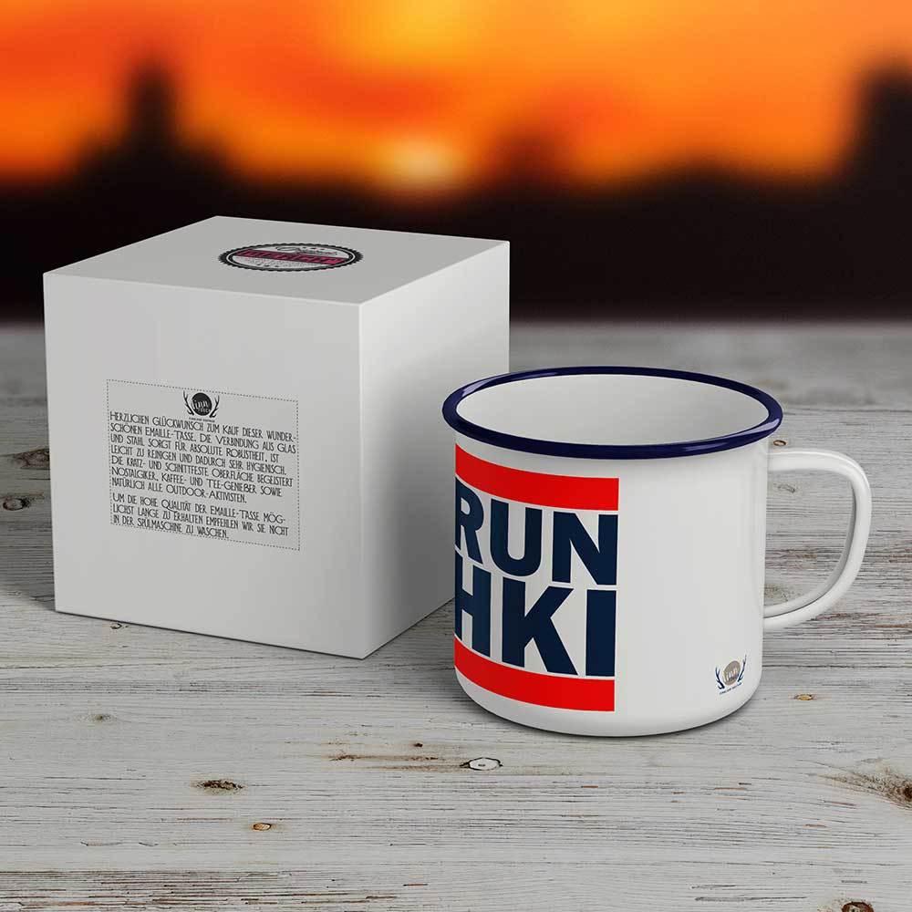 """""""RUN HKI"""" Emaille-Tasse M1-FT 59912"""