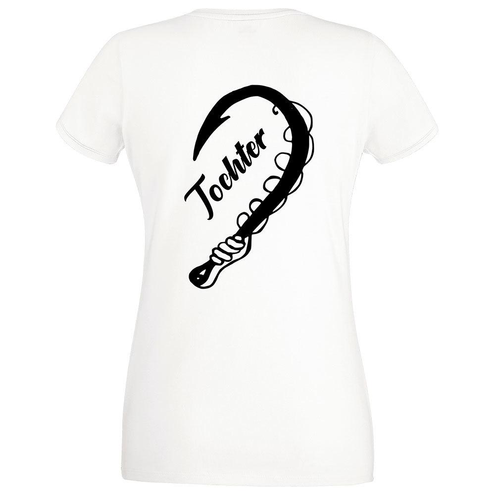 """""""Anglerin & Anglerin / Mutter & Tochter"""" T-Shirt Partnerset (Kindergröße 90 bis XXL)"""