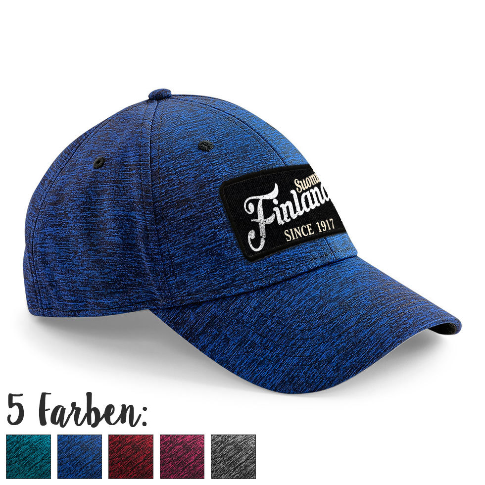 """Suomi Finland - since 1917"" Stretch-Fit Basecap M1-FT 10084"