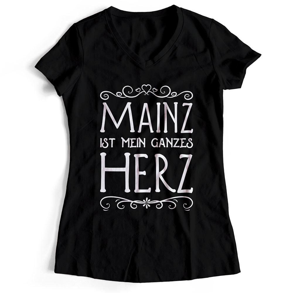 """Mainz T-Shirt """"Mainz ist mein ganzes Herz"""" (Damen) 91972"""