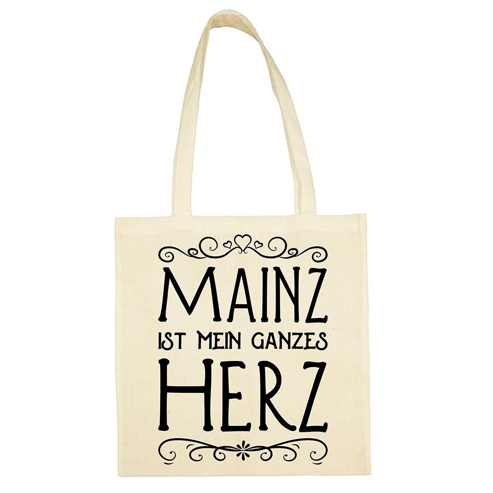 """""""Mainz ist mein ganzes Herz"""" Jute Beutel"""