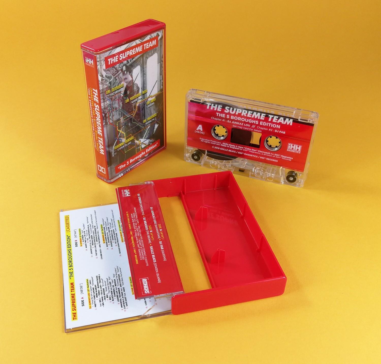 "[Cassette / Audio Tape]  THE SUPREME TEAM  (DJ Brasko + DJ Fab + DJ Stresh + DJ Junkaz Lou + Skillz Beats)  ""The 5 Boroughs Edition""   + fichier audio de la mixtape OFFERT"