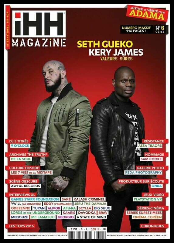 iHH™ MAGAZiNE  n° 6 (issue #6) >> 116 pages ! KERY JAMES + SETH GUEKO + etc.