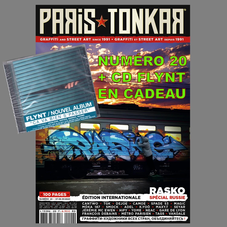 "PARiS TONKAR™ iNTERNATiONAL  N° 20 + CD FLYNT ""Ça Va Bien S'Passer"" en CADEAU ! [Offre lecteurs iHH™ MAGAZiNE]"