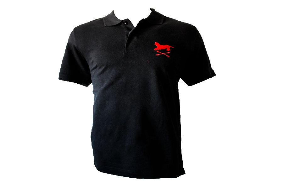 Polo negro bordado Alano&Flechas