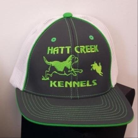 Beagle Running Rabbit Design Flex Fit Custom Hat - 68 Hat Colors Available!!!
