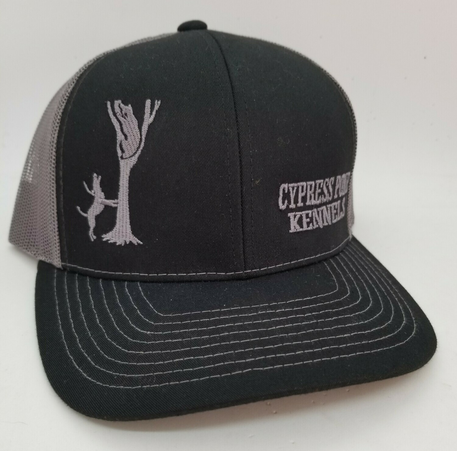 Dog Treeing Bear Custom Flex-Fit Hat - 68 Hat Colors Available