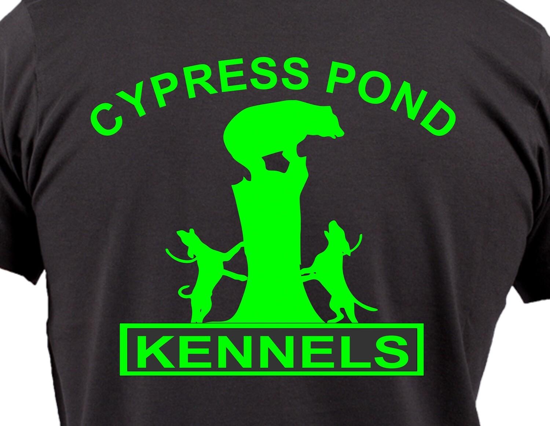 Dogs Treeing Bear - Short Sleeve Custom Shirt - 15 Colors Available