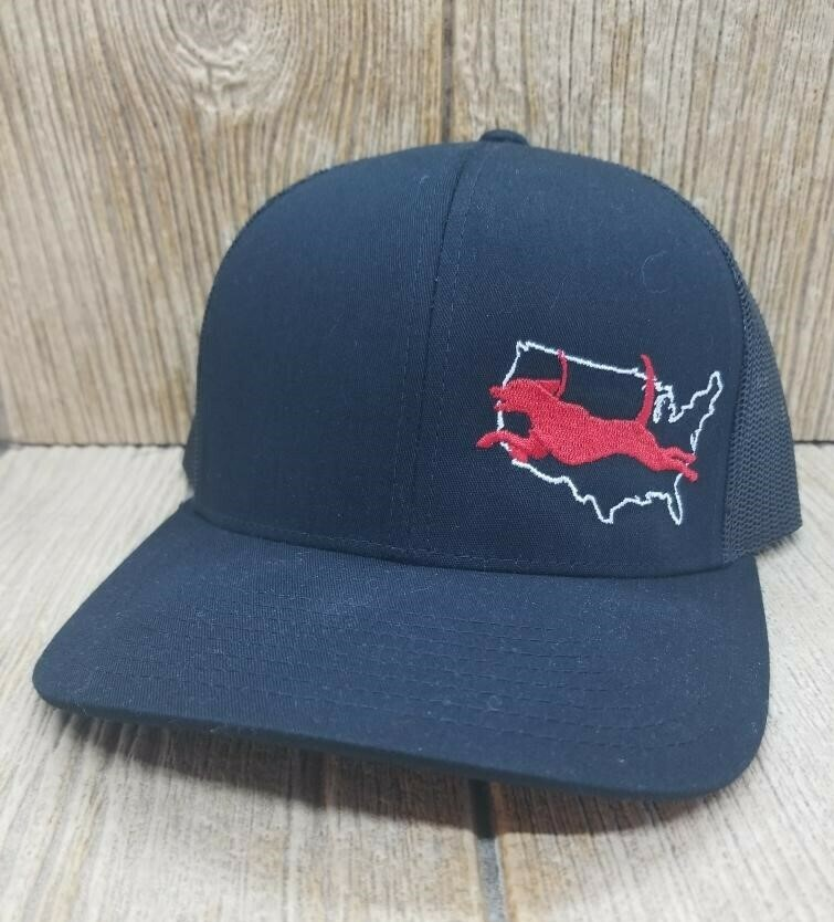 US Running Walker - Snap Back Custom Hat - Many Hat Colors Available