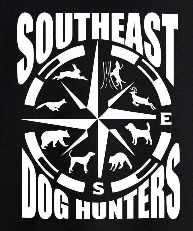 Black Southeast Dog Hunters Short or Long Sleeve T-Shirt