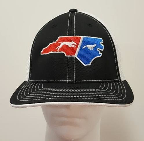 Two Color State Dog & Fox Flex Fit Hat - 68 Hat Colors Available!!!