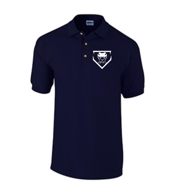 Short Sleeve Knit Polo - Navy