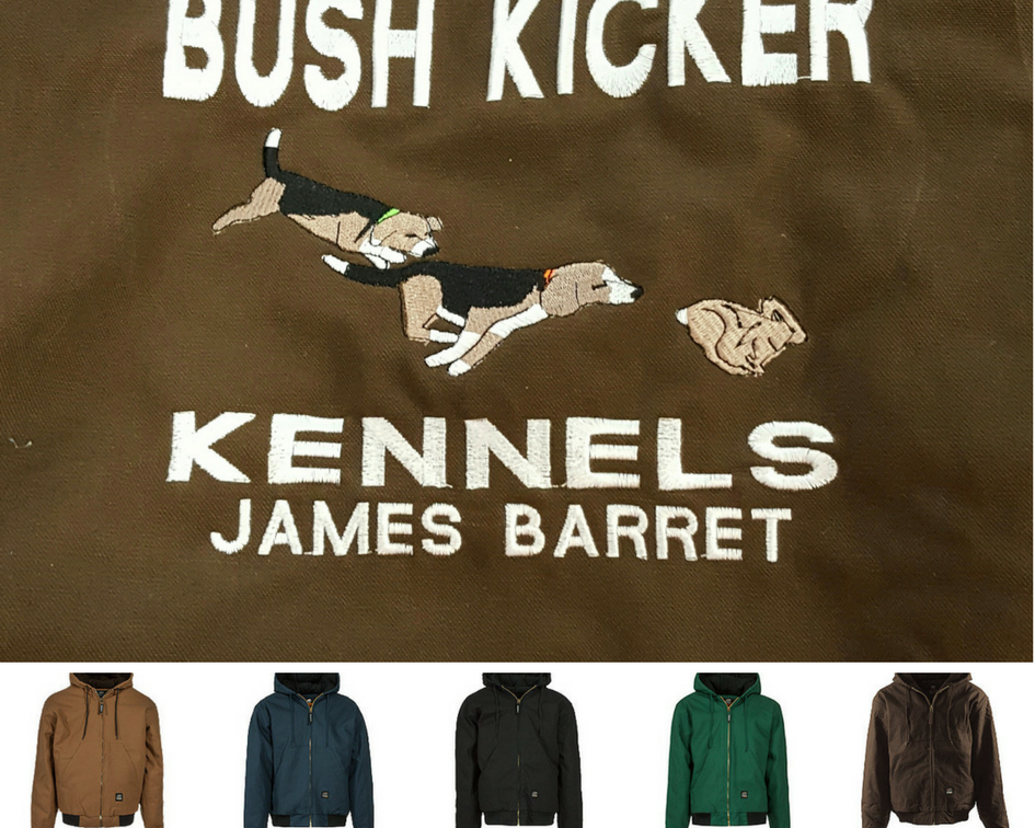 Dogs Running Rabbit Custom Kennel Coat