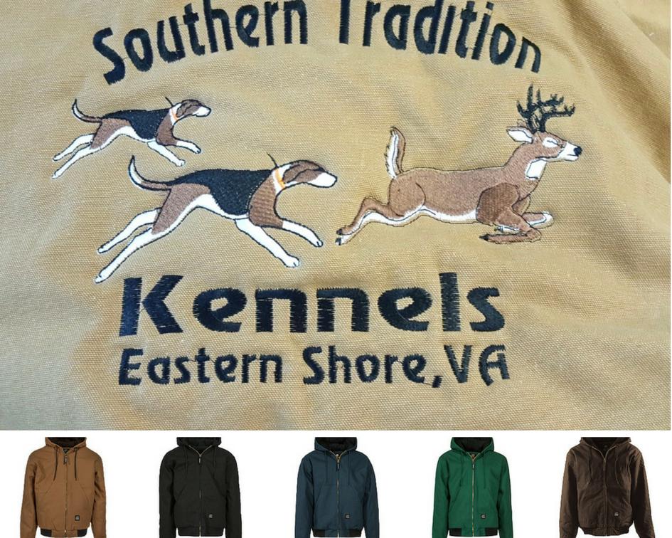 Dogs Running Deer Custom Kennel Coat