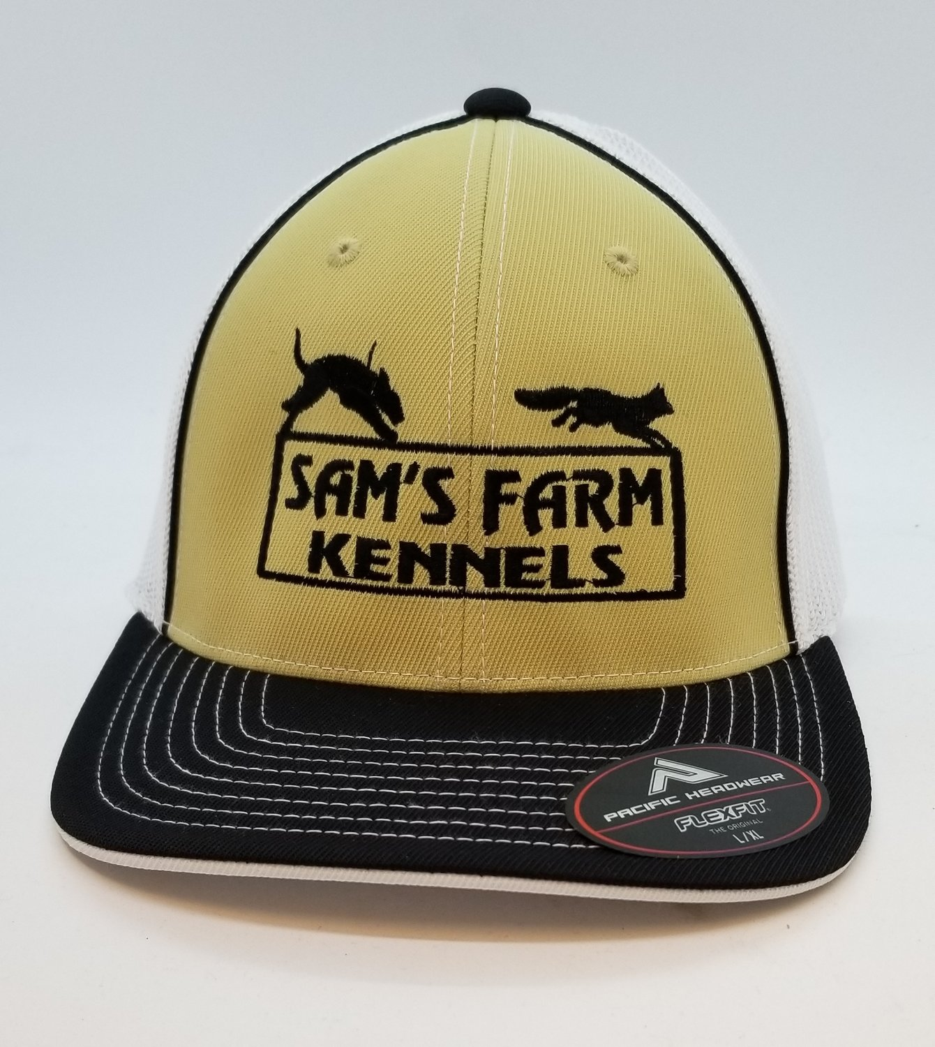 Dog Running Fox Adjustable Custom Hat - 44 Hat Colors Available!!!