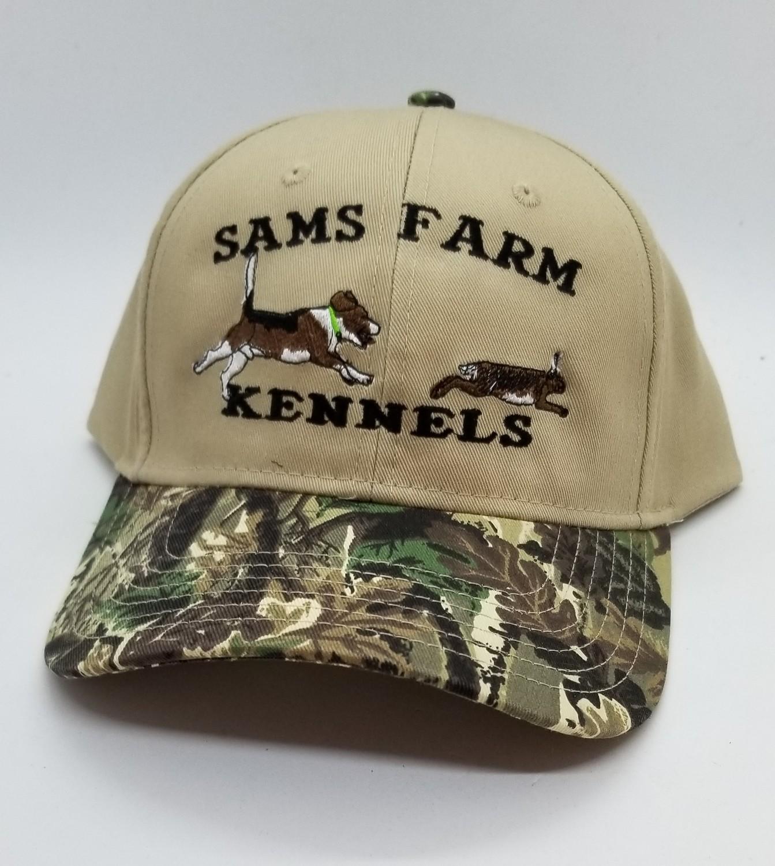 Beagle Running Rabbit Color Design Flex Fit Custom Hat - 68 Hat Colors Available!!!