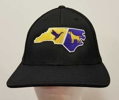 Two Color State Dog & Duck Adjustable State Custom Hat - All 50 States & 44 Hat Colors Available!!!