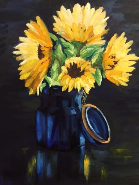 Blue Vase, Oil, 24x30