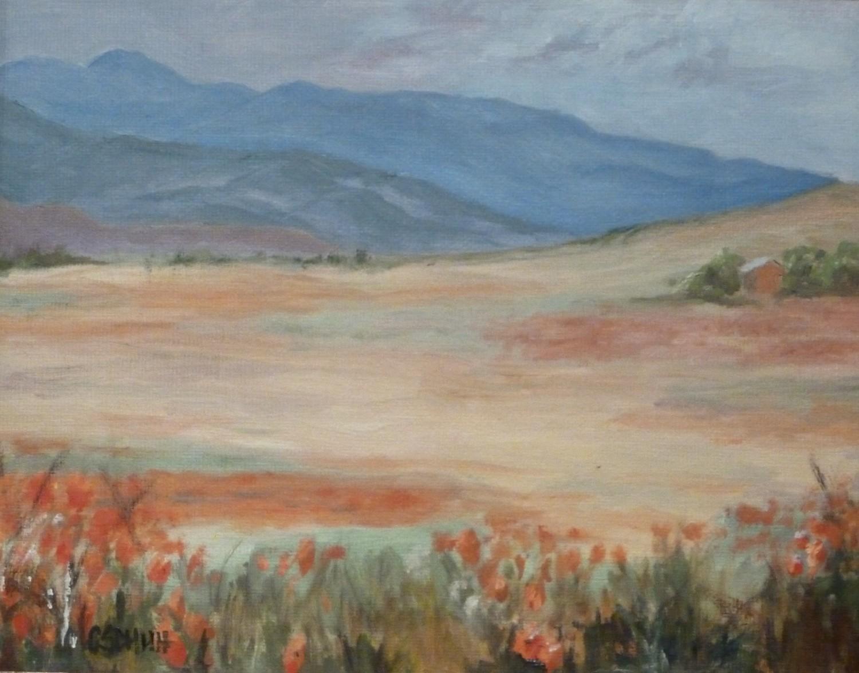 Poppies, Oil, 10x8