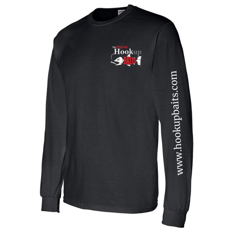 Hookup Baits Black Long Sleeve Cotton Shirt
